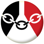 Black Country County Flag 25mm Keyring